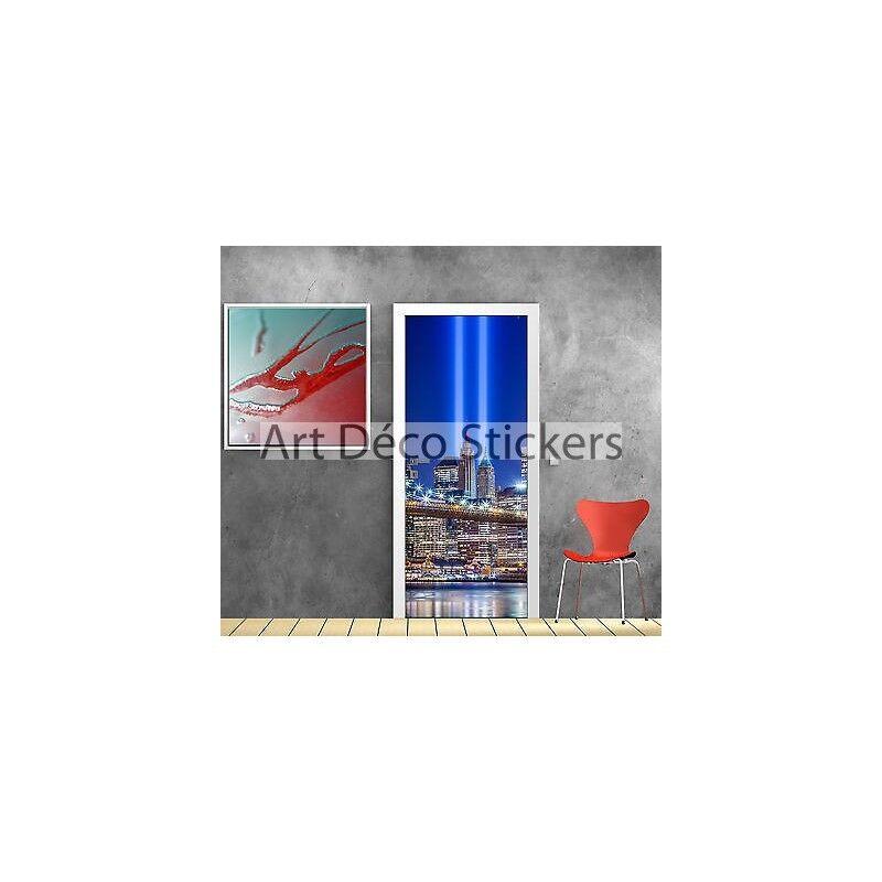 Aufkleber Tür Schein Auge Deko New York Licht Ref 825 825