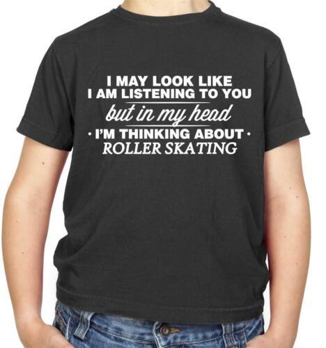 Skate In My Head I/'m Roller Skating Kids T-Shirt Skater Roller Derby