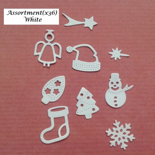 Sleigh /& Assortment in Various Colours Stockings Small Christmas Die Cuts