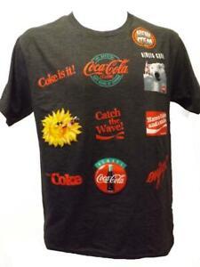 Coca-Cola-Coke-Adult-Mens-Sizes-S-M-L-XL-2XL-Classic-Slogans-Charcoal-Gray-Shirt