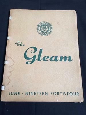 The Gleam 1944 yearbook Catholic Girls High School West Philadelphia paperback