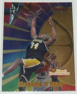1997-98-Shaquille-O-039-Neal-Lakers-Bowman-039-s-Best-Performance-Doubles-Card-95-NM