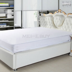Mattress-Cover-Waterproof-Bed-Bedding-Fitted-Sheet-Protector-Extra-Deep-Pad-Soft