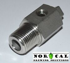 """304 Stainless Steel SIGHT GLASS FITTING 1/2"""" NPT Male Homebrew Keg Beer Brewing"""