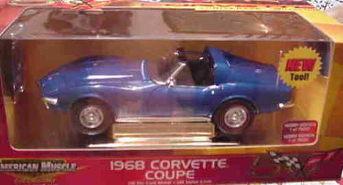1968 Corvette blå w  tools 1 18 Ertl American Muscle 33176