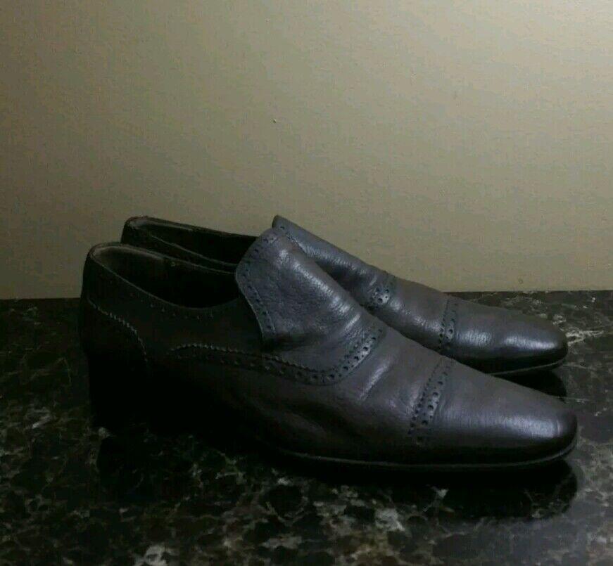 Zapatos de Cuero Marrón Bally  de EE. UU. hecho En Suiza