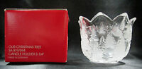 Home Beautiful Our Christmas Tree Bowl Clear Glass Candle Holder Germany Boxed