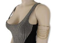 Women Gold Metal Wave Chain Fashion Upper Arm High Bracelet Fancy Style One Size