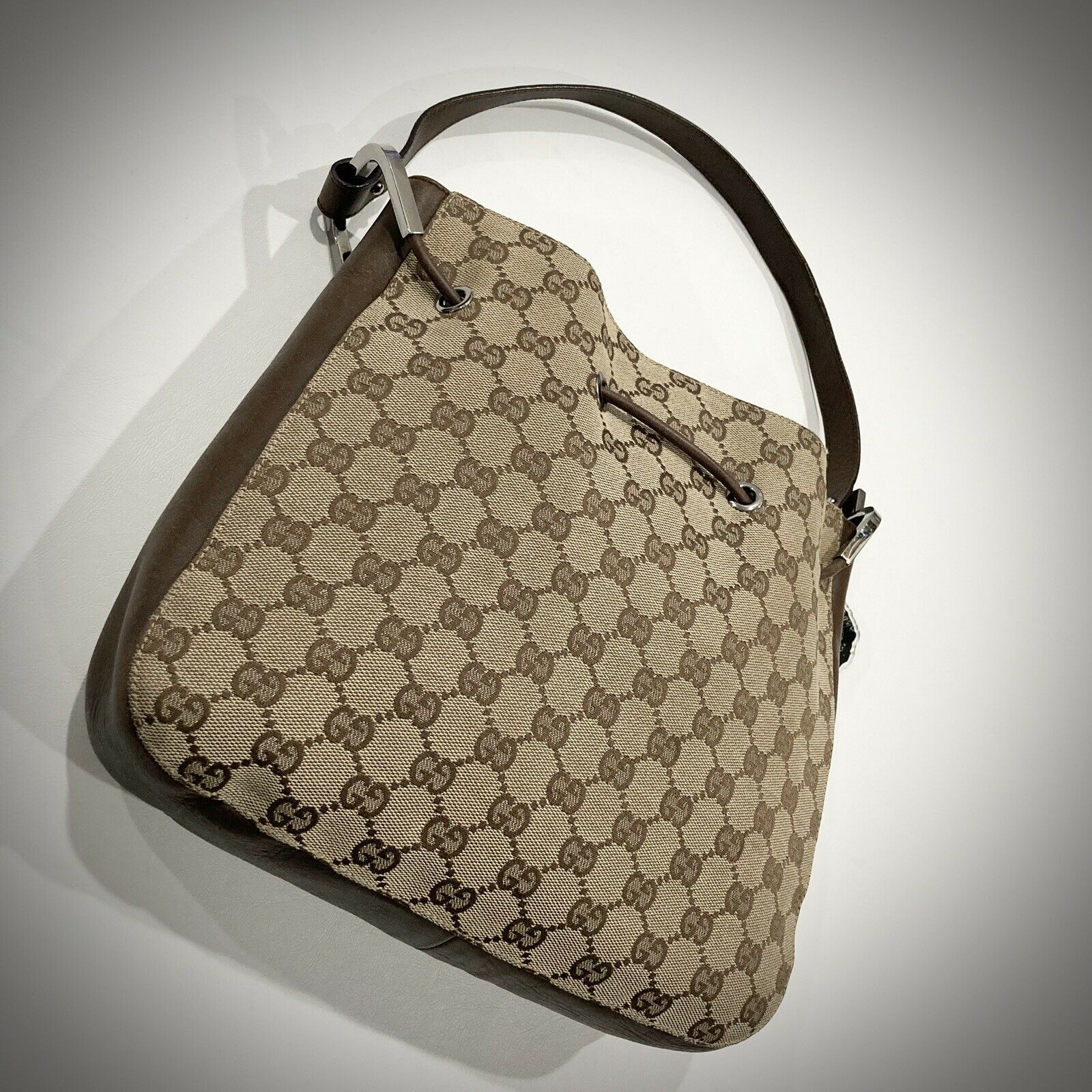 Vintage Authentic Gucci (Made In Italy) Classic H… - image 2