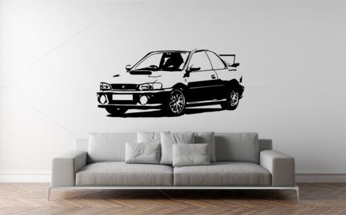 SUBARU IMPREZA CLASSIC CAR WALL ART STICKER,DECAL