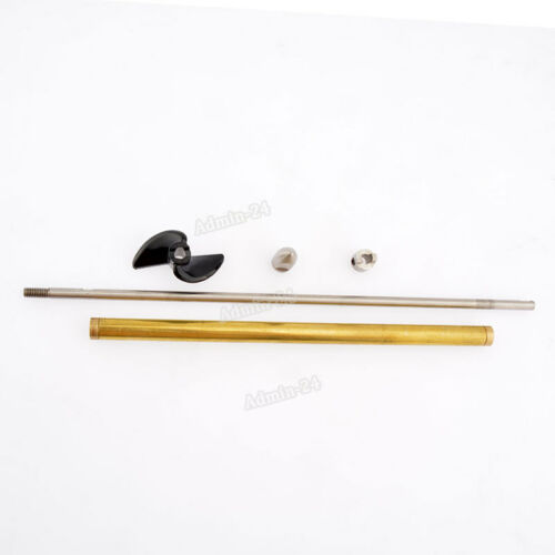 4mm RC Boat Shaft 250mm Drive Dog Brass Tube 200mm With D40mm Left Propeller