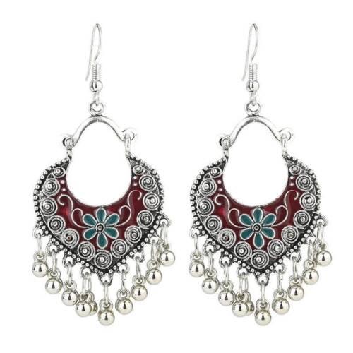 Elegant Bohe géométrique métal Long Glands Drop Dangle Crochet Boucles D/'oreilles Bijoux Cadeau