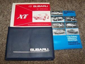 1987 Subaru XT Owner Owner's Operator User Guide Manual 1.8L 2.7L