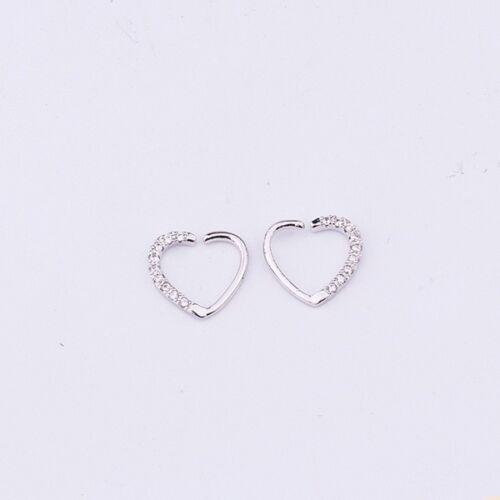 Beauty CZ Heart Nose Ring Piercing Hoop Earring Helix Tragus Daith Cartilage DIY