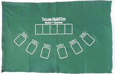 "Poker Texas Hold'em Table Top Layout 36""x 23"" Green Mat Pad Felt Portable Cover"