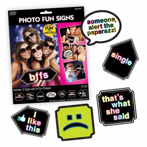 12pc Hen Party Funny Photo Props Signes Parti jeux Bridal Shower Femmes Adultes