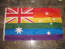 3x5 Australia Rainbow Gay Pride Australian Flag 3'x5' Brass Grommets