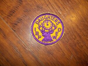 """Embroidered Patch IBPOEW Daughters ELKS LODGE IRON OR SEW ON HAT,SHIRT NEW 2/"""""""