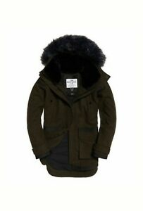 Parka 99 14 Rrp£144 Fjord 99 Size Womens Ovoid Large New Khaki £84 Superdry Coat Xqg5zw