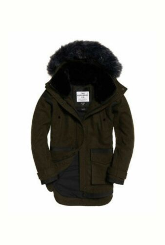 New Large Womens Khaki Superdry Rrp£144 Size Fjord £84 Ovoid 99 Parka 99 Coat 14 rqtwFrPEx