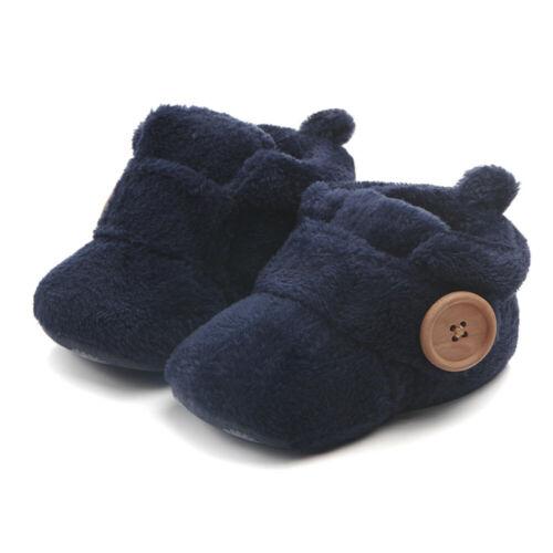 Newborn Baby Booties Boy Girl Crib Pram Shoes Winter Soft Snow Boots Prewalker