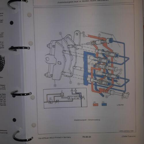 John Deere Traktoren 3040 3140 Reparaturhandbuch Werkstatthandbuch