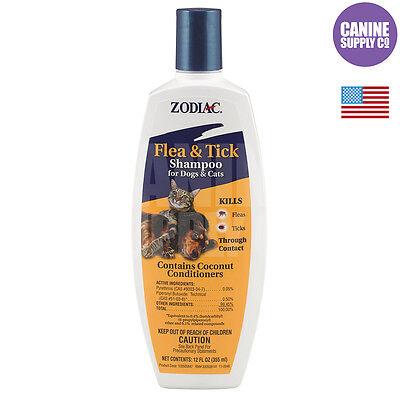 Zodiac Flea & Tick Shampoo For Dogs & Cats (Kill Fleas + Ticks), 18-Ounce Bottle