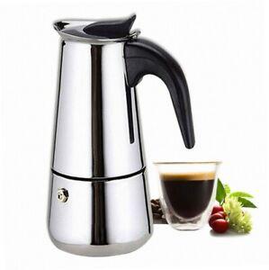 italienischer espressokocher f r den herd mokka kaffeekanne von kurtzy ebay