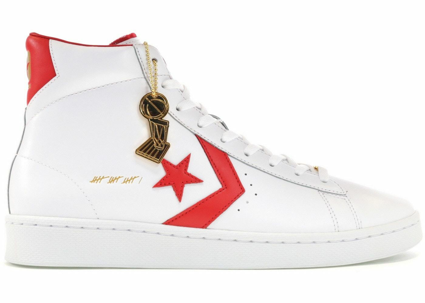 Converse Pro Leather Mid SZ 11.5 Dr. J The Scoop White Red 161328C