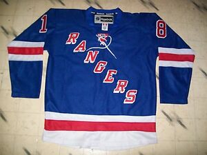 cheaper e6eba 3156d Details about NY NEW YORK RANGERS AUTHENTIC HOCKEY JERSEY #18 MARC STAAL  WITH FIGHT STRAP