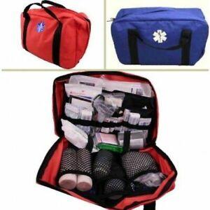 ELITE FIRST AID Master Camping Kit STOCKED Group Medic Survival EMT ORANGE/BLUE