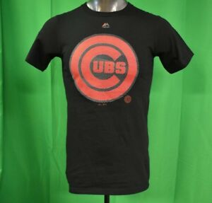 free shipping 8f716 e6a4d Details about Majestic MLB Mens Chicago Cubs Baseball Shirt NWT S