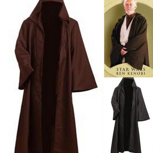 Star Wars Jedi´s Schwarz braune Robe mit Kapuze für  Erwachsene (S-3XL) Cosplay