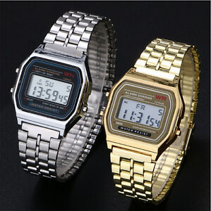 La imagen se está cargando Reloj-de-pulsera-Hombres -Mujeres-Vintage-clasico-metal- f7d95ed2d775