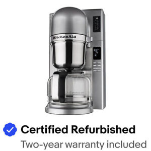 KitchenAid RR-KCM0802MS Pour Over Coffee Brewer, Medallion Silver