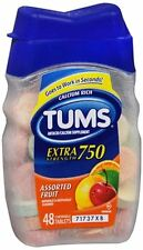 TUMS Extra Strength Assorted Fruit Antacid Chewable Tablets for Heartburn Relief 48 Count 739477 307660739234