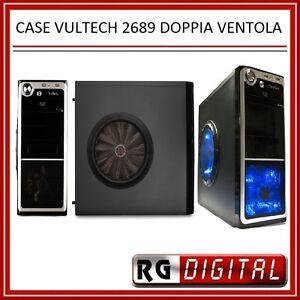 CASE-PC-CON-DOPPIA-VENTOLA-TRASPARENTE-BLU-2-USB-Vultech-GS-2689-ATX-E-MICRO-ATX