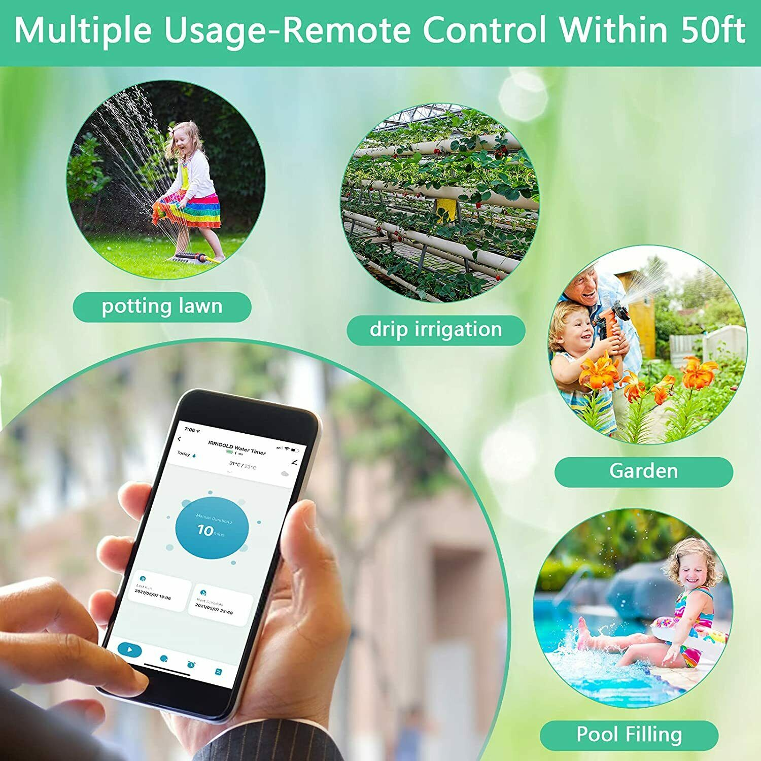 Bluetooth Sprinkler Water Timer for Garden Yard Automatic Irrigation Controllers