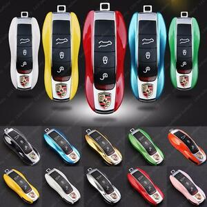 Remote-Key-Holder-Shell-Cover-For-Porsche-Cayenne-Macan-Panamera-Boxster-911