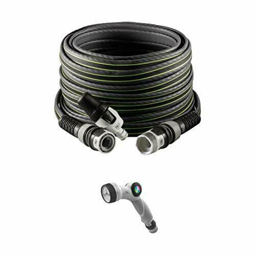 FITT FORCE PLUS Garden Water Hose, Grey with Green Stripes, 35m