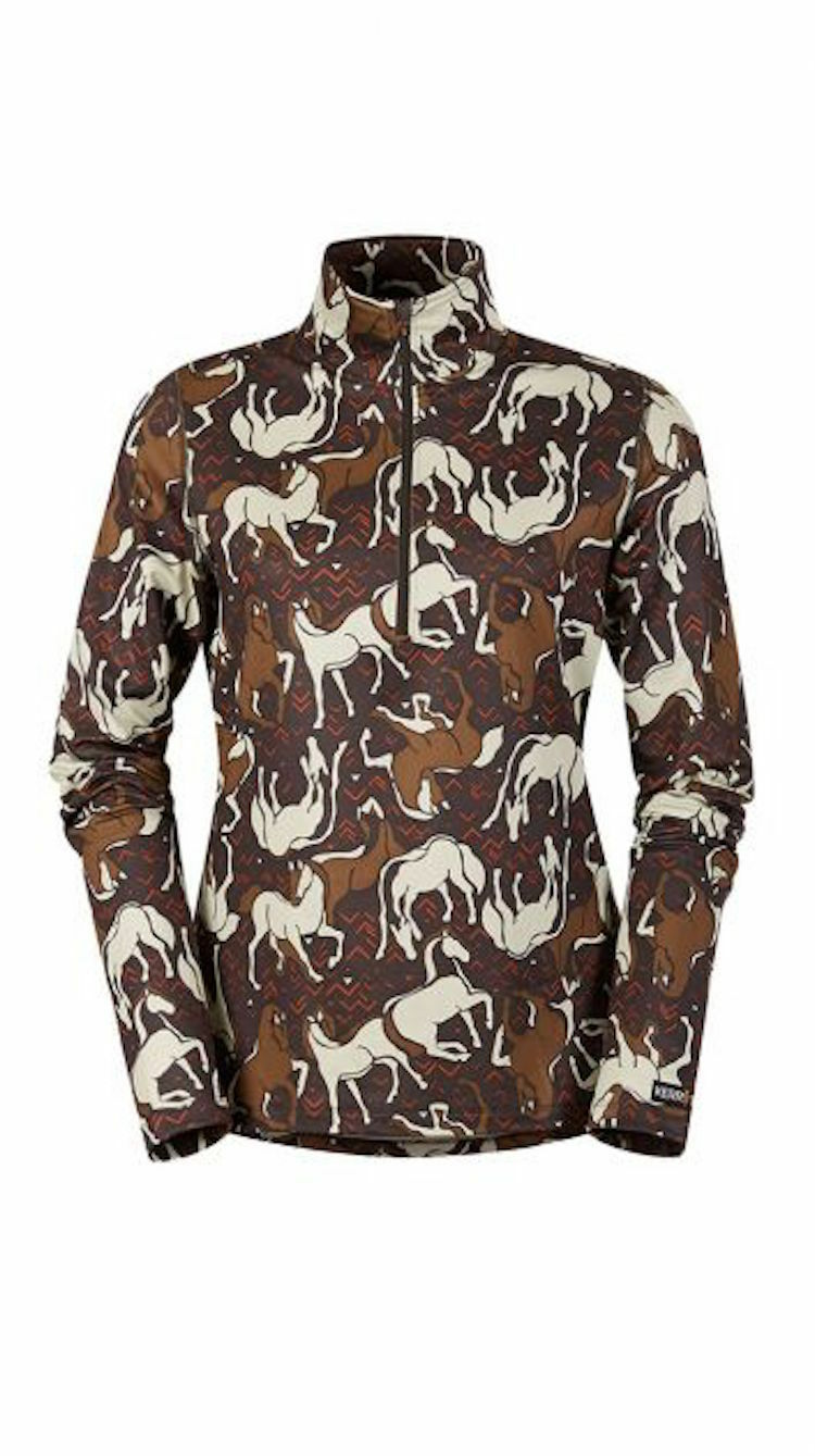 Kerrits Horse  Sense Half Zip Riding Shirt-Bison-2X  are doing discount activities