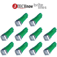 10 x T5, 5050 SMD LED Green Instrument Panel Dash Light Bulb 74 17 18 37 70 2721