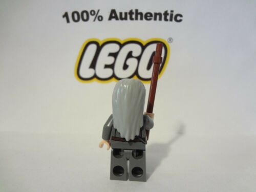 LEGO Hobbit Lord of the Rings Gandalf The Grey Long Hair w//Staff Minifig 79005