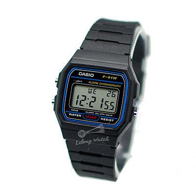 -Casio F91W-1D F-91W-1 Digital Watch Brand New & 100% Authentic NM