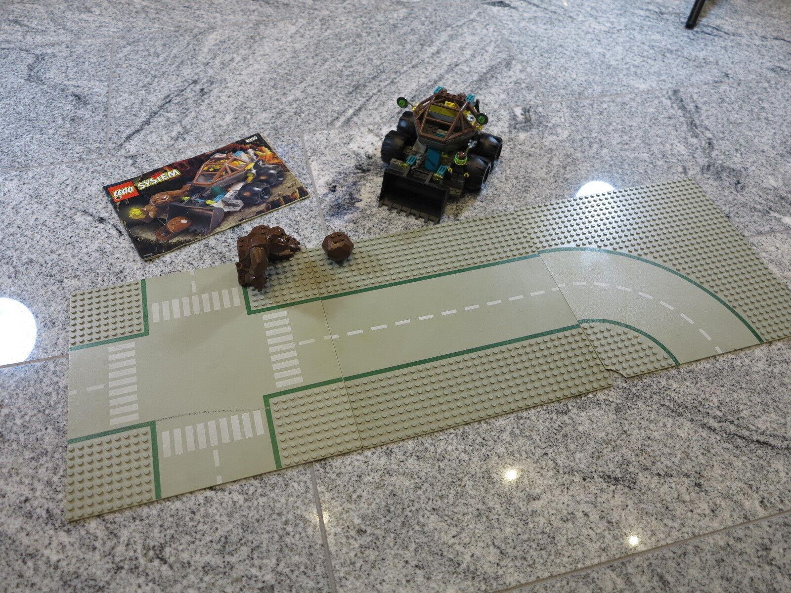 LEGO 4950 Rock Raiders Untergrundbagger von 1999 + OBA + Platten   Bagger Fels
