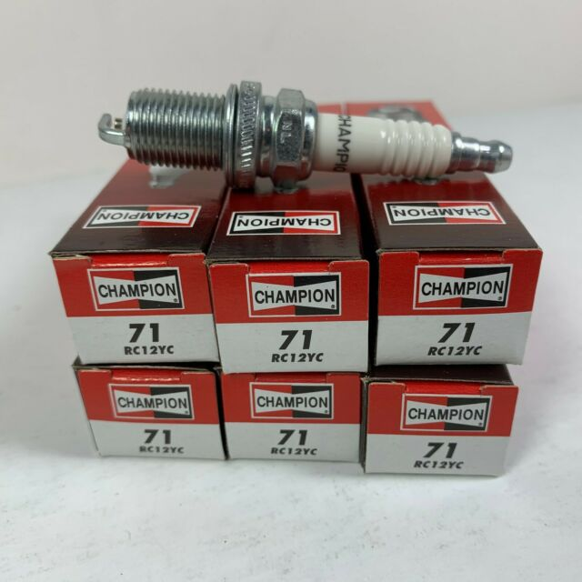 71G 1 Box of 6 Plugs 71 Champion RC12YC Copper Plus Small Engine Spark Plug