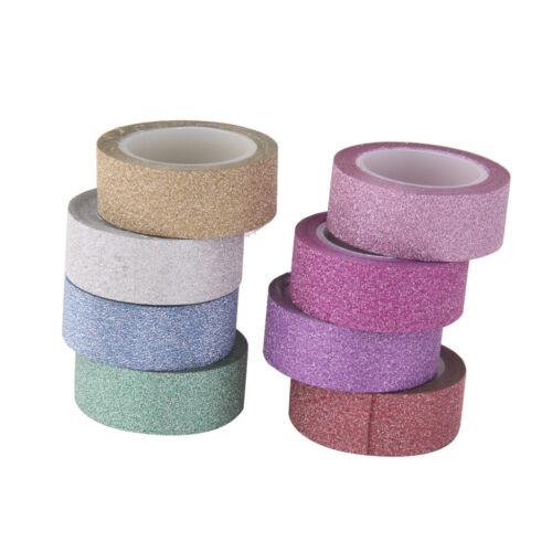 8x DIY Washi Sticky Paper Masking Adhesive Tape Scrapbooking Label Craft