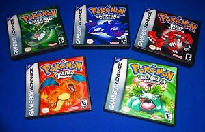 EMPTY-CASES-Nintendo-Pokemon-Leaf-Green-Fire-Red-Ruby-GBA-Game-boy-Advanced-SP