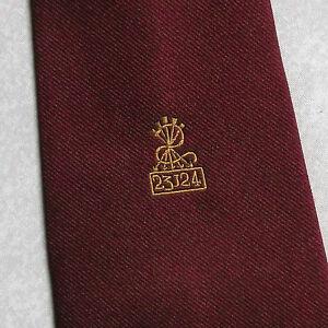 Vintage Cravate Homme Cravate Crested Club Association Society 23124-afficher Le Titre D'origine Fixation Des Prix En Fonction De La Qualité Des Produits