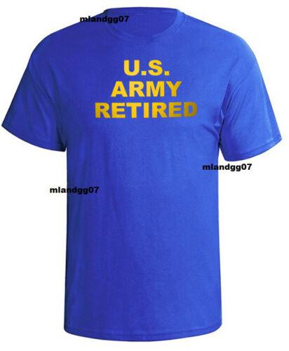 US Army Retired T-Shirt United States  Army Military Shirt SZ S-5XL